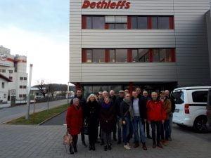 Team Noorderzon Campers bij Dethleffs fabriek