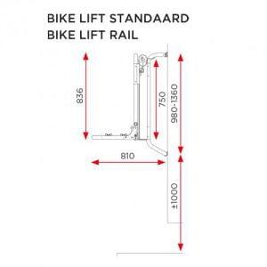 E-bike lift hoogte