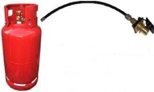 Gasfles met buitenvulaansluiting