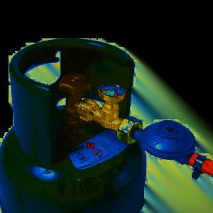 Gasstop op fles