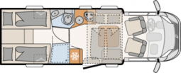 Plattegrond Dethleffs Pulse T7051 EBL
